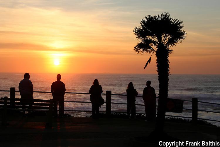 sunset in La Jolla
