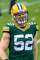 Green Bay Packers linebacker Clay Matthews (52) during a National Football League game against the Tampa Bay Buccaneers on December 2nd, 2017 at Lambeau Field in Green Bay, Wisconsin. Green Bay defeated Tampa Bay 26-20. (Brad Krause/Krause Sports Photography)