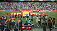 San Diego, Ca - Sunday, January 21, 2018: USWNT Starting 11 during a USWNT 5-1 victory over Denmark at SDCCU Stadium.