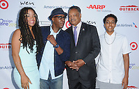 16 July 2016 - Pacific Palisades, California. Ashley Laverne Jackson, Arsenio Hall, Jesse Jackson, Arsenio Hall Jr.. Arrivals for HollyRod Foundation's 18th Annual DesignCare Gala held at Private Residence in Pacific Palisades. Photo Credit: Birdie Thompson/AdMedia