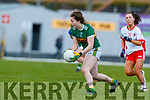 Hannah O'Donoghue, Kerry in action against Dearbhla Gallagher, Tyrone during the Lidl Ladies National Football League Division 2 Round 4 match between Kerry and Tyrone at Fitzgerald Stadium on Sunday.