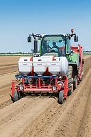 Planting potatoes, applying Nemathorin, fertiliser & Amistar - Lincolnshire, May