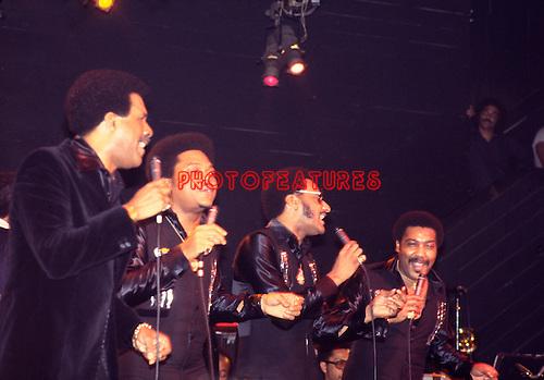 Four Tops 1978 Levi Stubbs, Renaldo Obie Benson, Abdul Duke Fakir and Lawrence Payton.© Chris Walter.
