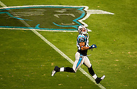 Carolina Panthers wide receiver Steve Smith (#89) at Bank of America Stadium in Charlotte, NC. Photo from the Carolina Panthers' 20-9 loss to the Buffalo Bills in Charlotte on Sunday, Oct. 25, 2009. Professional American NFL football team The Carolina Panthers represents North Carolina and South Carolina from its hometown of Charlotte, NC. The Carolina Panthers are members of the NFL's National Football Conference South Division. The Charlotte professional football team began playing in Charlotte in 1995 as an expansion team.  The Carolina Panthers play in Bank of America Stadium, formerly known as Carolinas Stadium and Ericsson Stadium.
