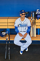 Jack Lopez (1) of the Omaha Storm Chasers before the game against the Round Rock Express at Werner Park on May 27, 2018 in Papillion , Nebraska. Round Rock defeated Omaha 8-3. (Stephen Smith/Four Seam Images)