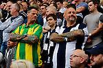 Stoke City 1 West Bromwich Albion 1, 24/09/2016. Bet365 Stadium, Premier League. Tattooed West Brom fans. Photo by Paul Thompson.