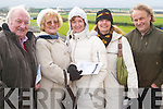 Dogs: Having a great day at the Ballybeggan Park Coursing on Tuesday were.Donal Regan, Rose Barry, Bronwyn Barry, Robyn Barry and Dominic Regan all from Tralee..