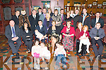 BABY JOY: Proud parents Kevin Phillipson and Elizabeth-Ann Carey, Tralee (seated 3rd & 4th left) of little Dermot Robert who was Christened in St Johns Church, Tralee and celebrated afterwards with family and friends in the Meadowlands Hotel on Saturday.