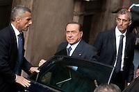 Silvio Berlusconi<br /> Roma 30-09-2013 Piazza Montecitorio. Deputati e senatori del PDL arrivano alla Camera per una riunione del gruppo dei parlamentari del Pdl.<br /> Photo Samantha Zucchi Insidefoto
