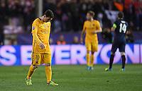 FUSSBALL CHAMPIONS LEAGUE  SAISON 2015/2016 VIERTELFINAL RUECKSPIEL Atletico Madrid - FC Barcelona       13.04.2016 Enttaeuschung Barca; Lionel Messi