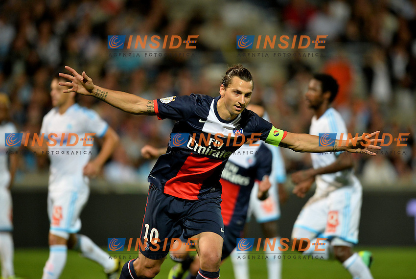 Zlatan Ibrahimovic (psg) <br /> Football Calcio 2013/2014<br /> Ligue 1 Francia <br /> Olympique Marsiglia - Paris Saint Germain PSG <br /> Foto Panoramic / Insidefoto <br /> ITALY ONLY