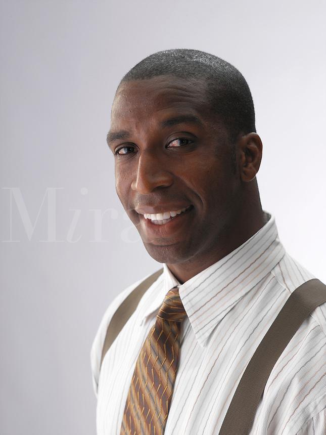 Smiling businessman.
