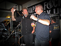 GOLD COAST, Queensland/Australia (Saturday, February 19, 2011)  Matt Hoy (AUS) and Quiksilver President Bob McKnight (USA). -A surprise 40th birthday party was held tonight for former pro surfer Matt Hoy at the Snapper Rocks Surf Club. Friends from around Australia and the world helped celebrate the night .Photo: joliphotos.com-A surprise 40th birthday party was held tonight for former pro surfer Matt Hoy at the Snapper Rocks Surf Club. Friends from around Australia and the world helped celebrate the night .Photo: joliphotos.com