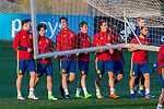 Saul Iniguez, Mikel Merino , Alvaro Odriozola during the training of Spanish national team under 21 at Ciudad del El futbol  in Madrid, Spain. March 21, 2017. (ALTERPHOTOS / Rodrigo Jimenez)