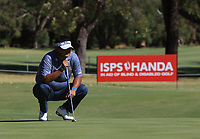 Poom Meesawat (THA) in action on the 1st during Round 2 Matchplay of the ISPS Handa World Super 6 Perth at Lake Karrinyup Country Club on the Sunday 11th February 2018.<br /> Picture:  Thos Caffrey / www.golffile.ie<br /> <br /> All photo usage must carry mandatory copyright credit (&copy; Golffile | Thos Caffrey)