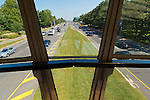 Sept. 12, 2012 - Hempstead, New York, U.S. - From Hofstra's west Unispan (pedestrian walkway overpass) connecting the North and South Campuses, view of Hempstead Turnpike  facing east.