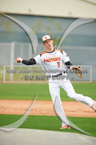 Damon Keith (8) of REDLANDS EAST VALLEY High School in Redlands, California during the Under Armour All-American Pre-Season Tournament presented by Baseball Factory on January 15, 2017 at Sloan Park in Mesa, Arizona.  (Zac Lucy/Mike Janes Photography)