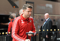 James Beattie first team coach for Swansea City arrives at the Stadium of Light during the Barclays Premier League match between Sunderland and Swansea City played at Stadium of Light, Sunderland