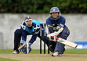 STOCK - CB40 Cricket - Saltires V Durham at Grange CC Edinburgh - Durham Dynamos batsman Gareth Breeze - keeper is Gregor Maiden - Picture by Donald MacLeod - 16.05.11 - 07702 319 738 - www.donald-macleod.com - clanmacleod@btinternet.com