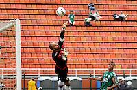ATENÇÃO EDITOR: FOTO EMBARGADA PARA VEÍCULOS INTERNACIONAIS - SÃO PAULO, SP, 25 DE NOVEMBRO DE 2012 - CAMPEONATO BRASILEIRO - PALMEIRAS x ATLETICO GOIANIENSE: Goleiro Marcio durante partida Palmeiras x Atletico Goianiense, válida pela 37ª rodada do Campeonato Brasileiro no Estádio do Pacaembú. FOTO: LEVI BIANCO - BRAZIL PHOTO PRESS