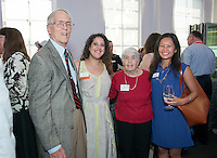"""Warrington """"Warry"""" MacElroy '60<br /> Guests attend the Leadership Giving High Tech Happy Hour in the McKinnon Center for Global Affairs on Saturday, June 13, 2015, part of Occidental College's annual Alumni Reunion. <br /> (Photo by Marc Campos, Occidental College Photographer)"""