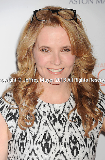 CENTURY CITY, CA- MAY 03: Actress Lea Thompson arrives at the 20th Annual Race To Erase MS Gala 'Love To Erase MS' at the Hyatt Regency Century Plaza on May 3, 2013 in Century City, California.