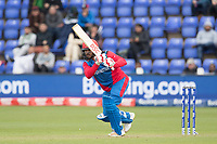 Gulbadin Naib (Afghanistan) drives through the on side during Afghanistan vs Sri Lanka, ICC World Cup Cricket at Sophia Gardens Cardiff on 4th June 2019