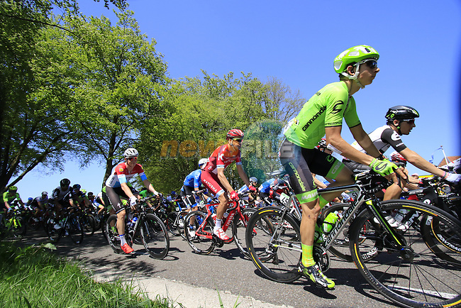 The peloton, including Davide Formolo (ITA) Cannondale, in action during Stage 3 of the 2016 Giro d'Italia running 190km from Nijmegen to Arnhem, The Nethrerlands. 8th May 2016.<br /> Picture: Eoin Clarke | Newsfile<br /> <br /> <br /> All photos usage must carry mandatory copyright credit (&copy; Newsfile | Eoin Clarke)