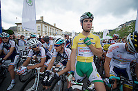 prologue winner &amp; race leader Jimmy Angoulvent (FRA) at the start of the 1st stage<br /> <br /> 2013 Skoda Tour de Luxembourg<br /> stage 1: Luxembourg - Hautcharage (184km)