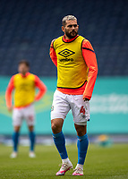 11th July 2020; Ewood Park, Blackburn, Lancashire, England; English Football League Championship Football, Blackburn Rovers versus West Bromwich Albion; Bradley Johnson of Blackburn Rovers warms up Strictly Editorial Use Only. No use with unauthorized audio, video, data, fixture lists, club/league logos or 'live' services. Online in-match use limited to 120 images, no video emulation. No use in betting, games or single club/league/player publications