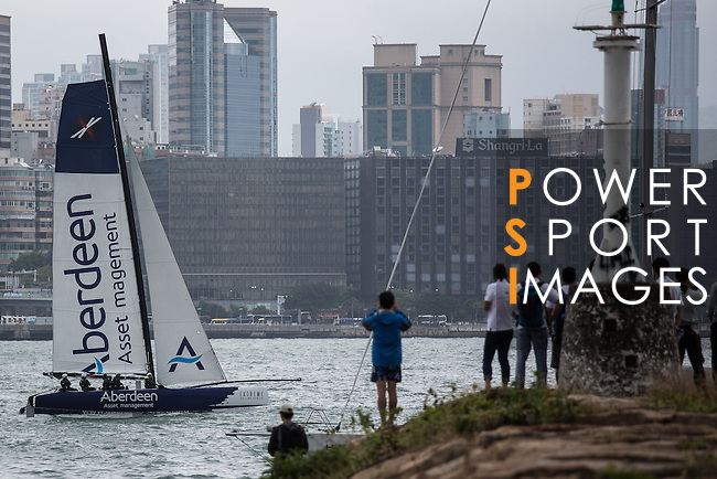 Aberdeen Extreme 40 sails in Victoria Harbour prior to the Hong Kong Around the Island Race on November 10, 2013 at Royal Hong Kong Yacht Club in Hong Kong, China. Photo by Jerome Favre / The Power of Sport Images