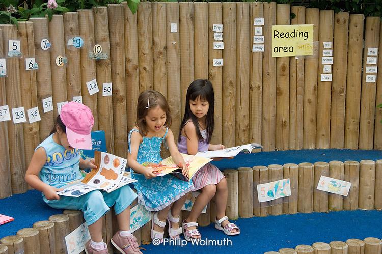 Nursery garden at Wilberforce Primary School, Queens Park, North Paddington.