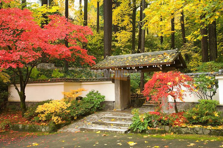 Entrance to the Japanese Garden Portland, Oregon