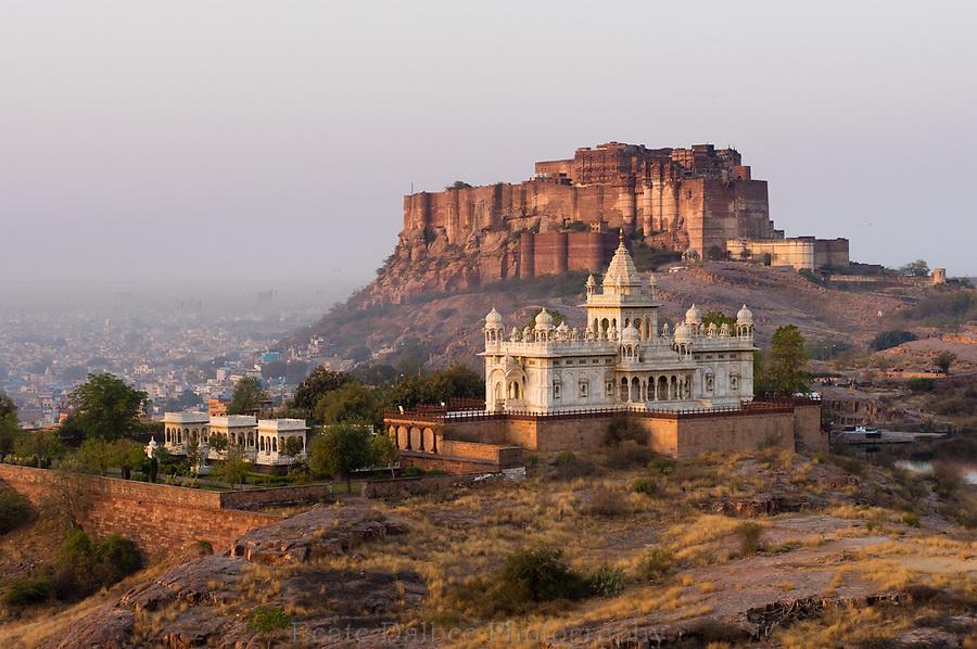 Jaswant Thada and Mehargarh Fort, Jodhpur, Rajasthan, India