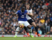 Everton's Romelu Lukaku and Tottenham Hotspur's Eric Dier<br /> <br /> Photographer Rob Newell/CameraSport<br /> <br /> The Premier League - Tottenham Hotspur v Everton - Sunday March 5th 2017 - White Hart Lane - London<br /> <br /> World Copyright &copy; 2017 CameraSport. All rights reserved. 43 Linden Ave. Countesthorpe. Leicester. England. LE8 5PG - Tel: +44 (0) 116 277 4147 - admin@camerasport.com - www.camerasport.com