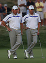 SOREN HANSEN of the European Ryder Cup Team & LEE WESTWOOD of the Europen Ryder Cup Team during the friday afternoon fourballs of the 37th Ryder Cup Matches, September 16 - 21, 2008 played at Valhalla Golf Club, Louisville, Kentucky, USA ( Picture by Phil Inglis ).... ......
