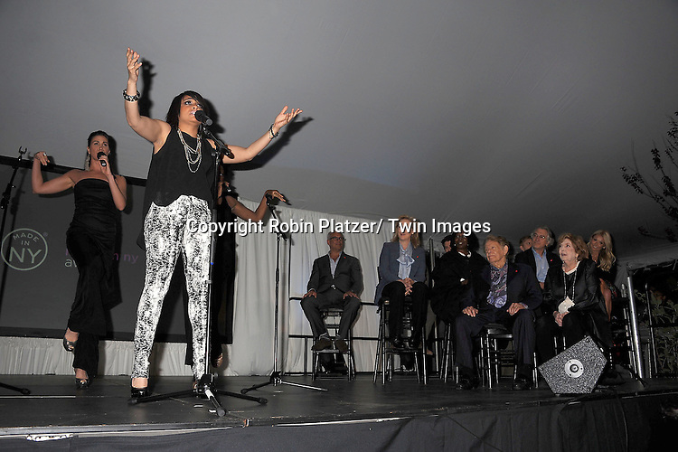 "Raven -Symone singing at the  ""Made in NY""  Awards at Gracie Mansion on June 4, 2012 in New York City."
