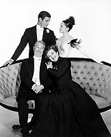 Gigi (1958) <br /> Promo shot of Leslie Caron, Louis Jourdan, Maurice Chevalier &amp; Hermione Gingold<br /> *Filmstill - Editorial Use Only*<br /> CAP/MFS<br /> Image supplied by Capital Pictures