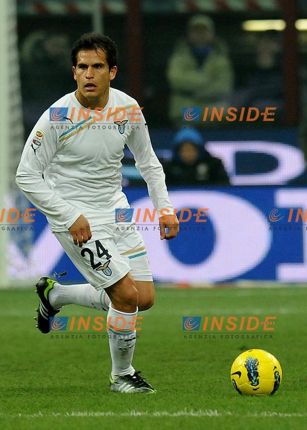 """Cristian LEDESMA (Lazio).Milano 22/1/2012 Stadio """"Giuseppe Meazza"""".Serie A 2011/2012.Football Calcio Inter Vs Lazio.Foto Insidefoto Alessandro Sabattini."""