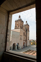 A view of the Santo Domingo church from its convent. Santo Domingo convent Museum, Oaxaca City, Oaxaca, Mexico