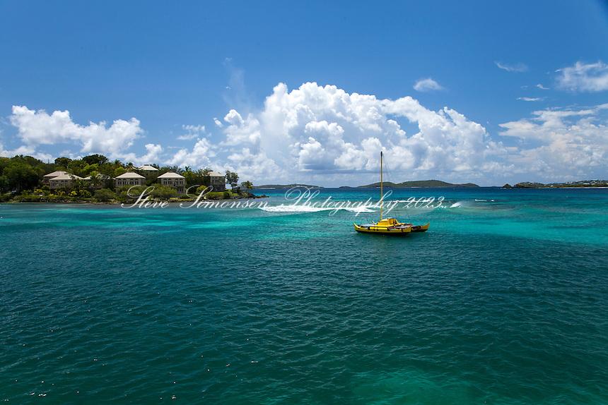 Cruz Bay, St. John<br /> Showing Gallows Point<br /> U.S. Virgin Islands