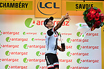 Warren Barguil (FRA) Team Sunweb wins the day's combativity prize at the end of Stage 9 of the 104th edition of the Tour de France 2017, running 181.5km from Nantua to Chambery, France. 9th July 2017.<br /> Picture: ASO/Pauline Ballet | Cyclefile<br /> <br /> <br /> All photos usage must carry mandatory copyright credit (&copy; Cyclefile | ASO/Pauline Ballet)