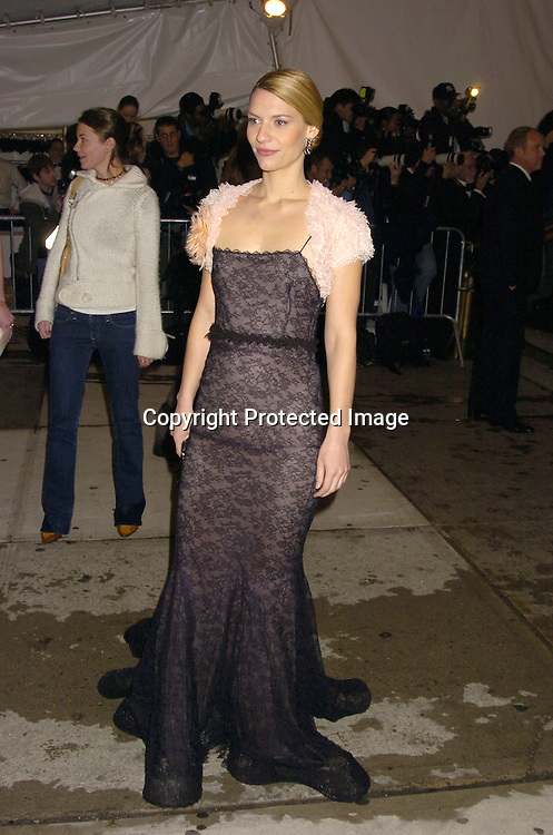 Claire Danes ..at The Metropolitan Museum of Art's Costume Institute Gala ..celebrating Chanel on May 2, 2005 in New York City.    Photo by Robin Platzer, Twin Images