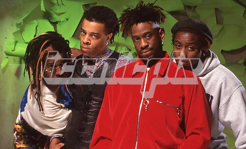 LIVING COLOR - L-R: Vernon Reid, Doug Wimbish, Will Calhoun, Corey Glover - London UK - 1993.  Photo credit: Ray Palmer Archive/IconicPix