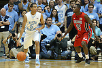 09 November 2012: North Carolina's Marcus Paige (5) and Gardner-Webb's Jarvis Davis (15). The University of North Carolina Tar Heels played the Gardner-Webb University Runnin' Bulldogs at Dean E. Smith Center in Chapel Hill, North Carolina in an NCAA Division I Men's college basketball game. UNC won the game 76-59.