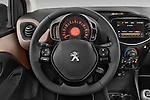 Car pictures of steering wheel view of a 2014 Peugeot 108 Allure 5 Door Micro Car 2WD Steering Wheel
