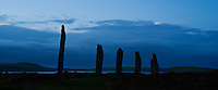 Ring of Brodgar standing stones, Orkney, Scotland