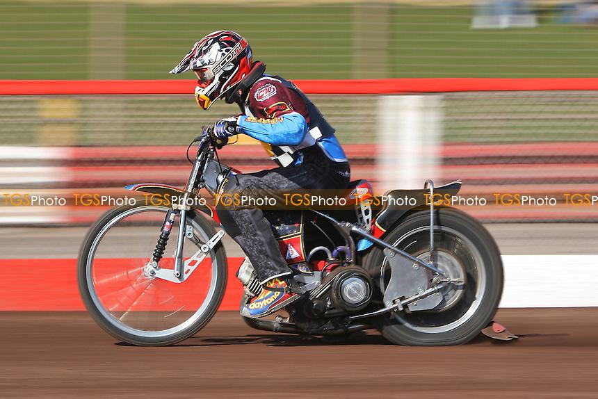 Shane Hazelden of Hackney Hawks in riding action - Hackney Hawks Speedway Press & Practice Day at Arena Essex Raceway, Purfleet, Essex - 23/03/11 - MANDATORY CREDIT: Gavin Ellis/TGSPHOTO - Self billing applies where appropriate - Tel: 0845 094 6026