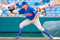 July 2nd, 2010 Micah Hoffpauir (24) in action during MiLB play between the Iowa Cubs and the Omaha Royals. Iowa Cubs won 5-3 at Rosenblatt Stadium, Omaha Nebraska.