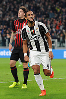 Calcio, Serie A: Juventus vs Milan. Torino, Juventus Stadium, 10 marzo 2017.<br /> Juventus' Mehdi Benatia celebrates after scoring during the Italian Serie A football match between Juventus and AC Milan at Turin's Juventus Stadium, at Turin's Juventus Stadium, 10 March 2017. <br /> UPDATE IMAGES PRESS/Manuela Viganti